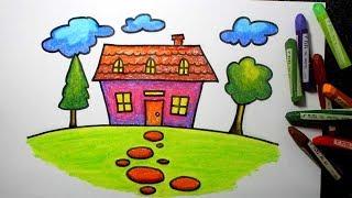 Cara Mewarnai Sekolah Dan Rumah Dengan Crayon Bagus Tk Sd