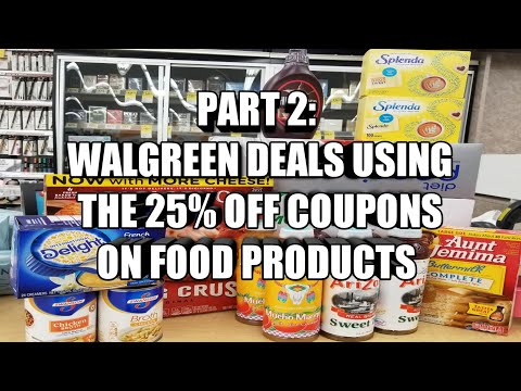 WALGREEN DEALS FOR FOOD PRODUCTS| USING THE 25% OFF COUPONS