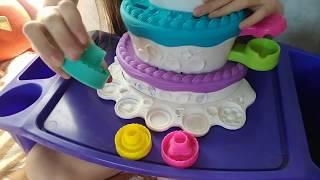 Мега обзор набора Праздничный торт от Плей-До /Cake Mountain Play- Doh  Hasbro