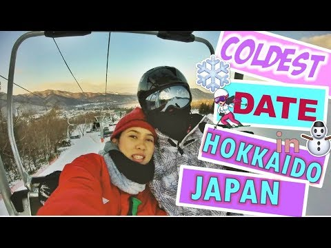OUR FIRST SKI in Hokkaido | COOLest & COLDest Date Ever