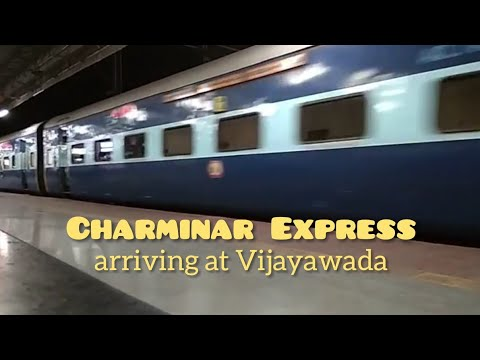 Charminar Express arriving at Vijayawada Junction