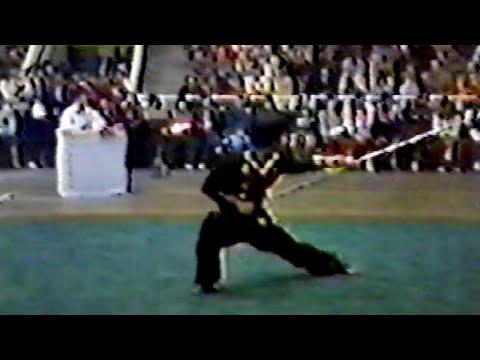 【武術】1984 男子棍術 李志洲(北京) / 【Wushu】1984 Men Gunshu (Cudgelplay) Li Zhizhou (Beijing)
