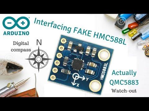 Interfacing HMC5883L / QMC5883 Digital compass with Arduino
