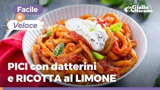 PICI con DATTERINI e RICOTTA MONTATA: una ricetta deliziosa dagli inconfondibili sapori mediterranei