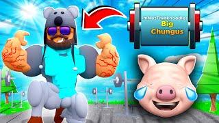 I AM BIG CHUNGUS..   ROBLOX Strongman Simulator