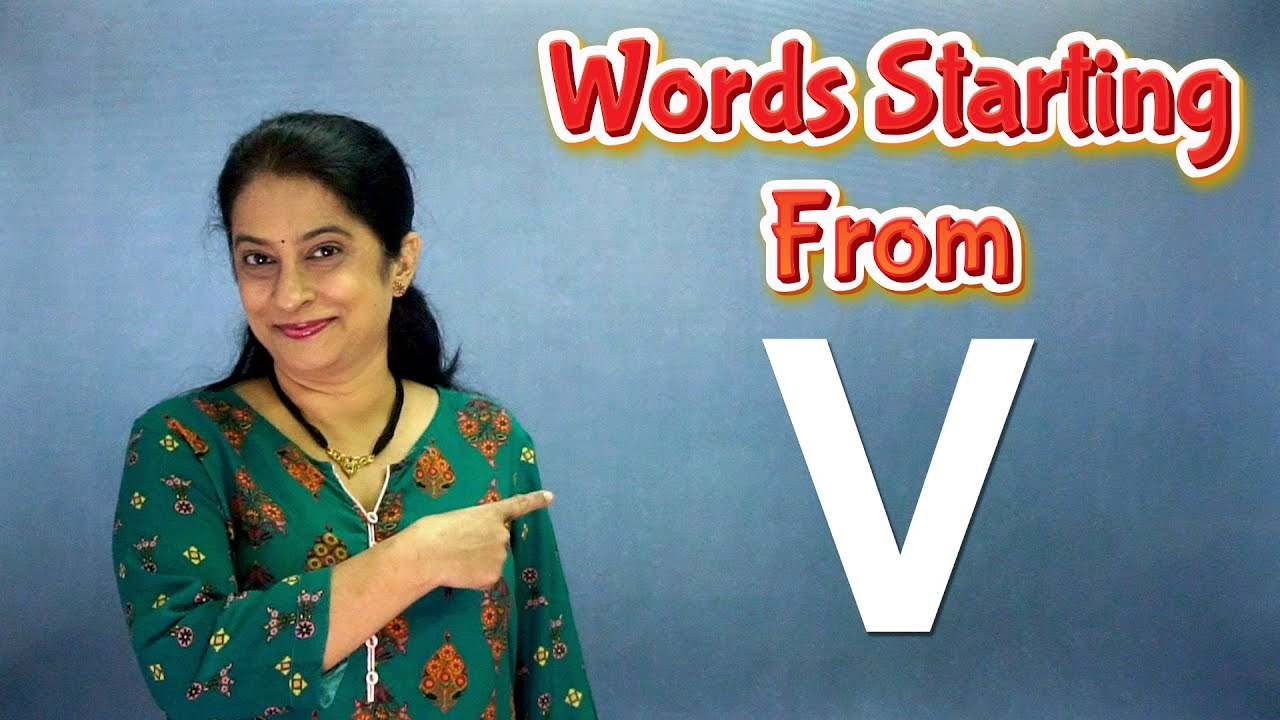 Words Starting with V | Flash Cards Words Starting From v | Learn English Words | Pebbles Learning