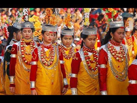 Elegance of Nonngkrem dance festival charm tourists in Shillong - YouTube