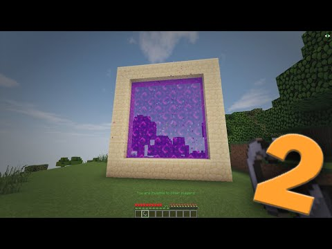 how to create portal minecraft