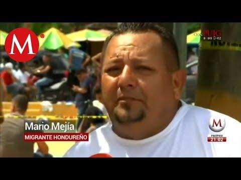 Llegan hondureños de la caravana migrante a la frontera