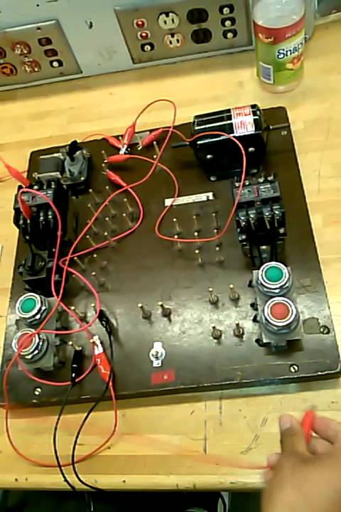 stop start pushbutton 3 wire control - youtube, Wiring diagram