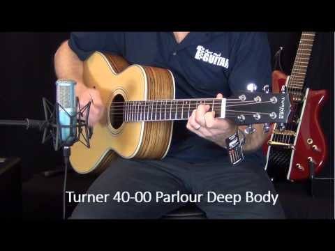 Turner 40-00 Parlour and 55CE Jumbo review