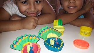 COLOR PEACOCK WITH CLAY MODELING FOR KIDS EASY & STEP BY STEP TUTORIALS  BY: ART+PLUS 8.8M views