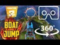 360° VR Fortnite | JUMP a MOTORBOAT through different FLAMING Rings | Boat Launch | Feat. Rippley