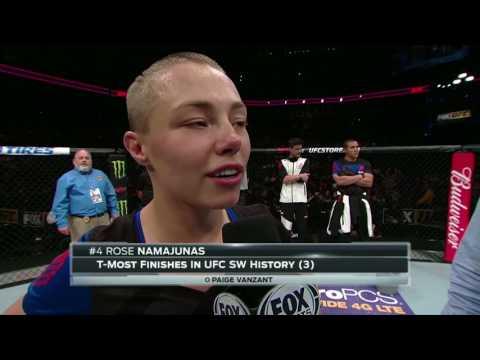 Fight Night Kansas City: Rose Namajunas Octagon Interview