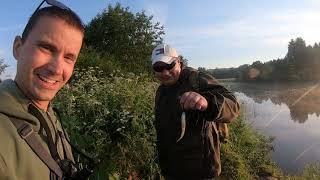 Рыбалка на реке Веля на большом садовом пруду и на реке Волга