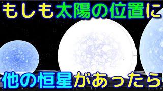 もしも太陽の位置に他の恒星があったらどうなる?