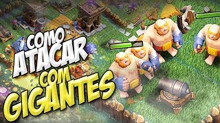 COMO ATACAR COM GIGANTE NIVEL 8 NA CC4 - BASE DO CONSTRUTOR - CLASH OF CLANS