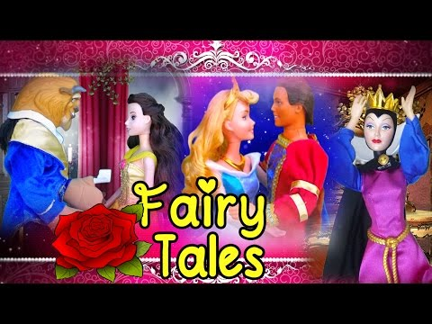 Stories for Kids With Toys & Dolls - Sleeping Beauty Cinderella Little Mermaid Hansel &Gretel & More