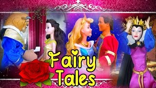 Stories for Kids ! Toys and Dolls Fun with Sleeping Beauty Cinderella Little Mermaid & More