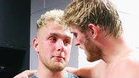 Jake Paul CRIES backstage AFTER Logan Paul Loses to KSI