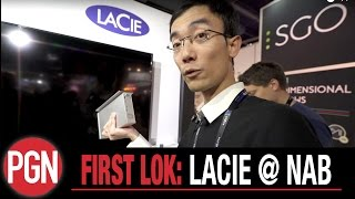 FIRST LOK: 60TB Lacie Thunderbolt 3 and USB C hard drives for photo and video at NAB 2017
