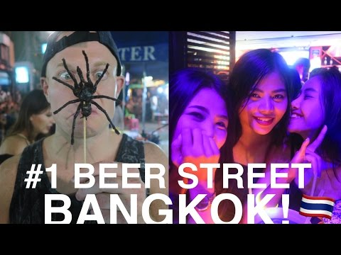 Khao San Road Bangkok! 🍻 World's #1 Backpacker St. – Beer, Bars & Street food. Thailand Nightlife!