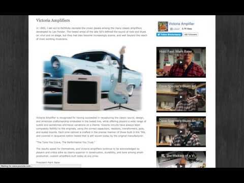 Victoria Amplifier Website Demo