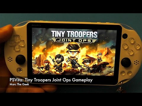 PSVita Tiny Troopers Joint Ops Gameplay