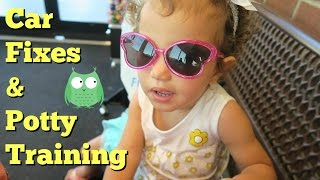 Car Fixes and Toddler Potty Training Girl | Biracial Family Vlog