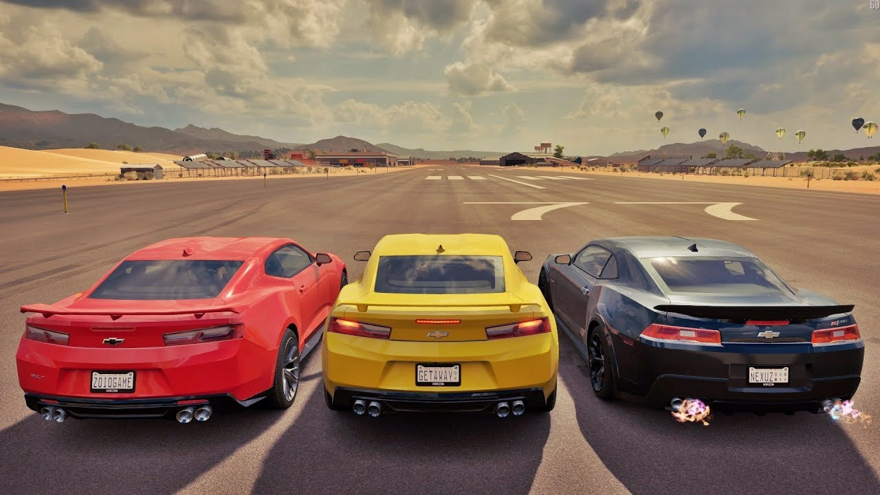 Forza Horizon 3 Online Camaro Zl1 Vs Camaro Ss Vs Camaro Z 28 Zoioogamer Youtube