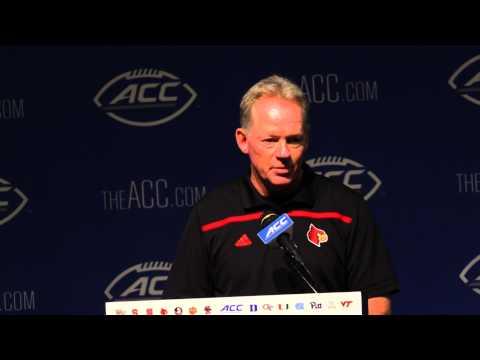 Bobby Petrino 2015 ACC Kickoff (Podium) 7-21-2015