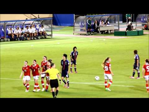 2012 U-20 女子ワールドカップ スイスvs日本 田中陽子選手のFK2連発
