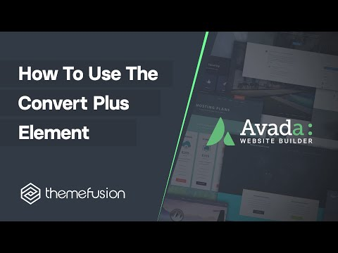 How To Use The Convert Plus Element Video
