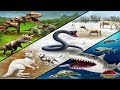 Land Vs Ice Vs Sea Battles! - Jurassic Park Builder