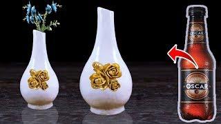 বোতল দিয়ে ফুলদানী // Best Out Of Waste Plastic Bottle Flower Vase //Plastic Bottle Craft Idea