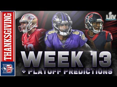 Week 13 NFL Picks & Playoff Predictions   2019 #NFLRT Pick'em Challenge: THANKSGIVING EDITION