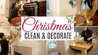 CLEAN & DECORATE WITH ME | CHRISTMAS DECOR 2018 | Cleaning motivation