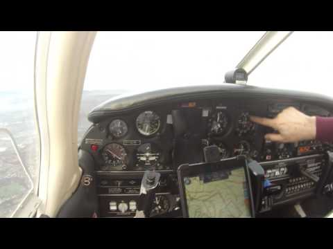IFR flight in the Piper Arrow with ILS approach and ATC audio.