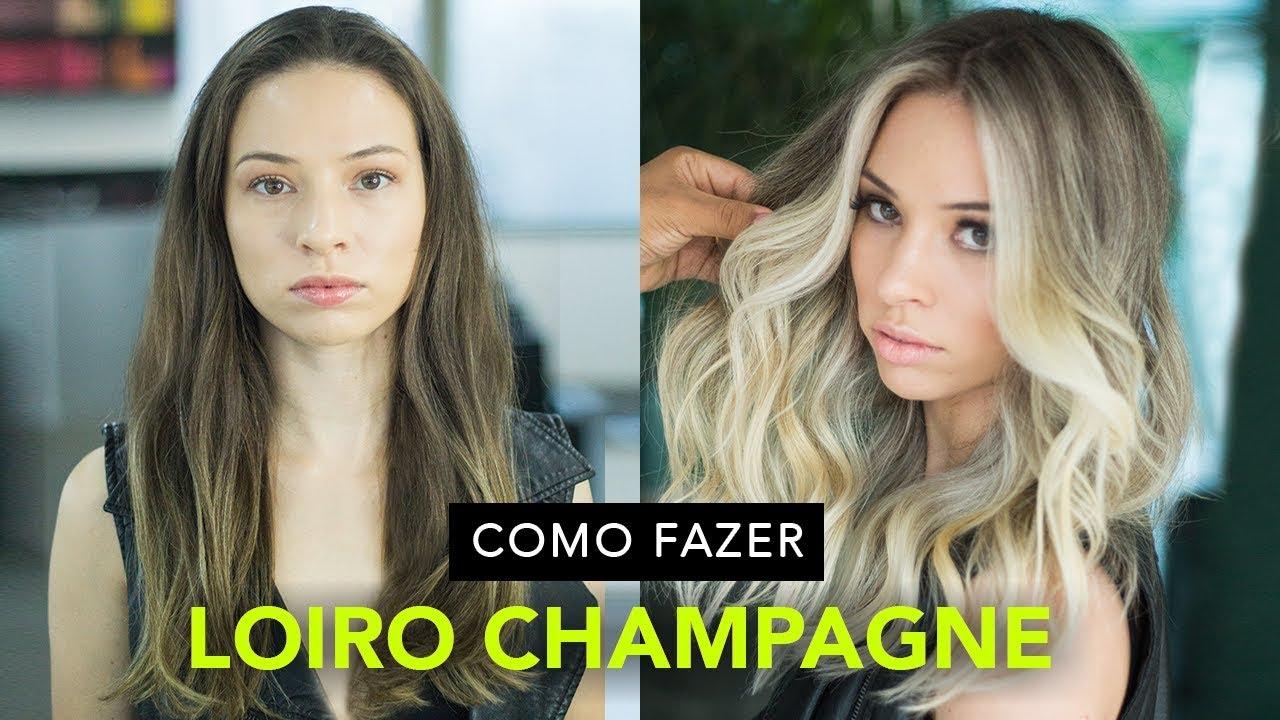 Como Fazer Loiro Champagne Youtube