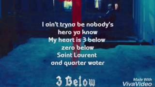 SAINt JHN - 3 Below  (Lyrics)
