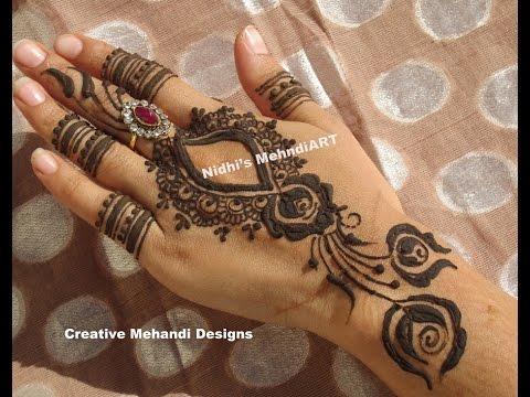 Popular Dubai Style Roses Henna Mehndi Design Tutorial