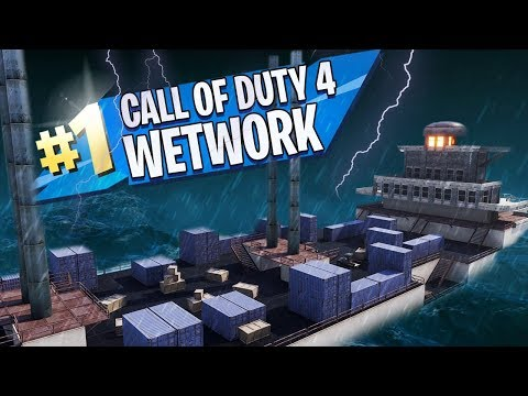 WETWORK (COD4) in FORTNITE CREATIVE MODE!!