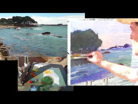 José SALVAGGIO plein air painting 52 Wind