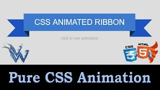 CSS3 Animated Ribbon | Pure Css Animation | Learn html By Amazing Techno Tutorials