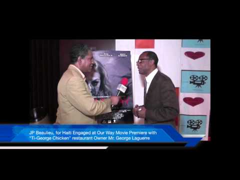 With Mr George Laguere, Owner of TIGeorge Chichen Caribean Restaurent