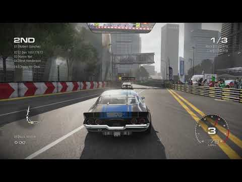 GRID 2019 - 7 minutes of gameplay taking a muscle car round Shanghai!