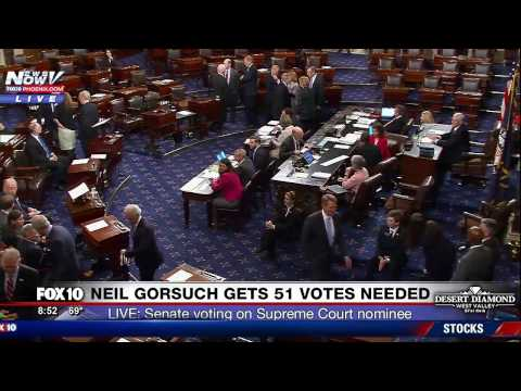 FNN: Supreme Court Nominee Neil Gorsuch Confirmed by Senate 54-45 (FULL VOTE COVERAGE)