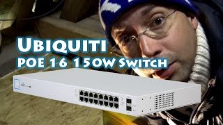Installing Ubiquiti POE16 150W Switch