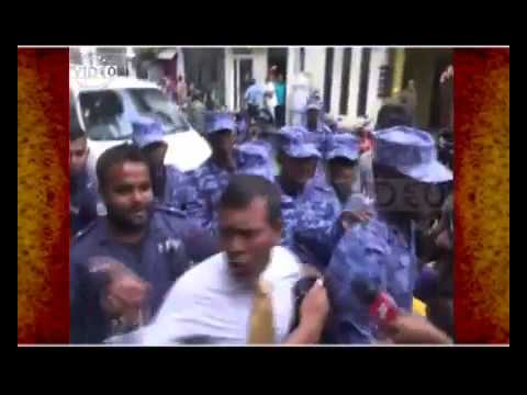 Maldives former president Mohamed Nasheed dragged into court by police