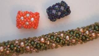 Tutorial perline tecnica Netted - Come fare un tubolare con perline e perle - Gioielli fai da te